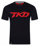 TKD shirt sort/rød (Herre)